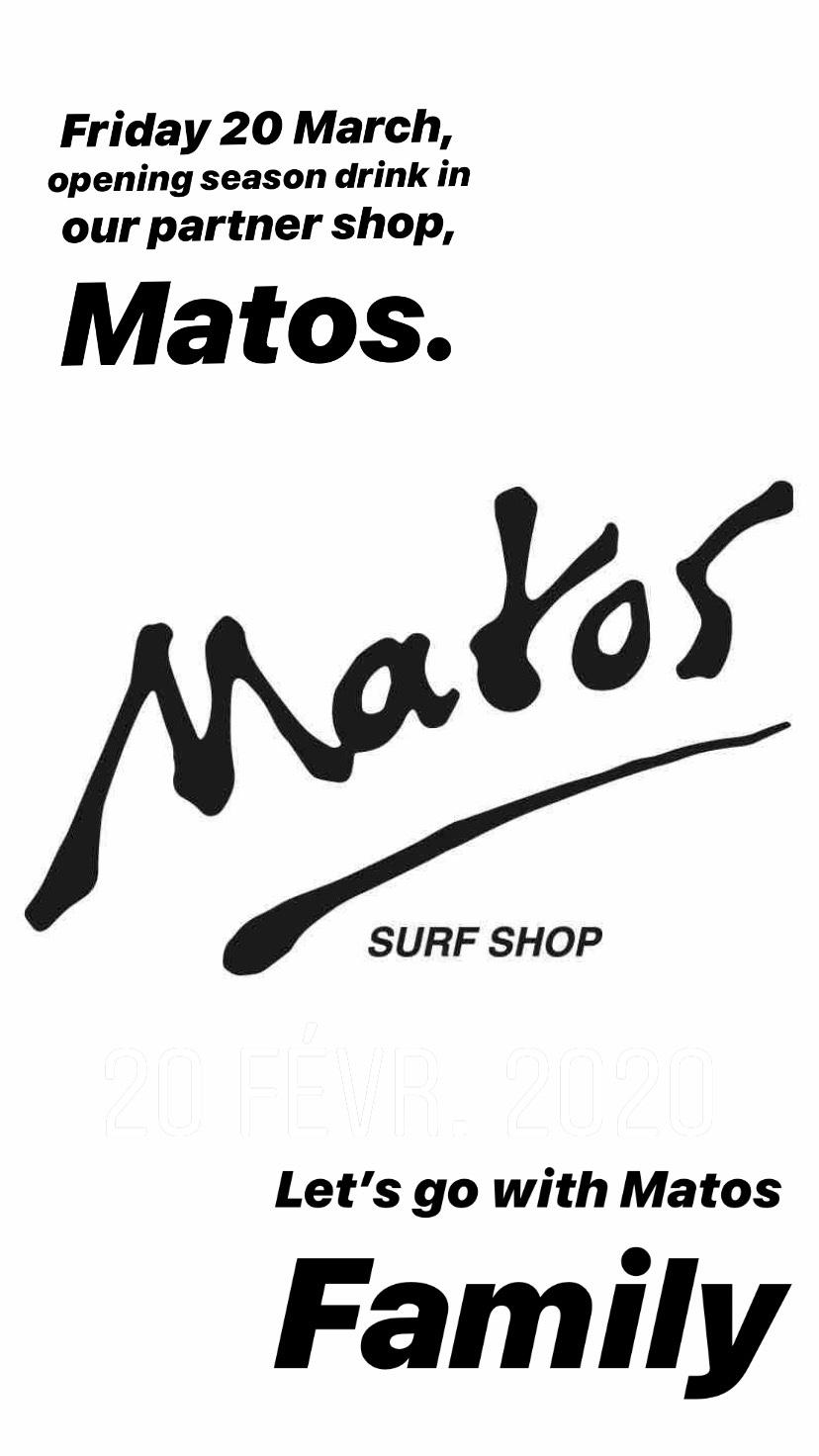 Matos shop – season Opening